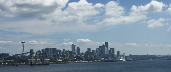 Seattle skyline from the forward deck